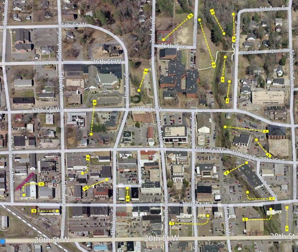GnR Downtown Throwdown (course map)