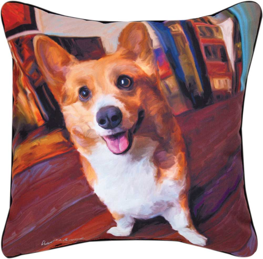 Corgi Artistic Throw Pillow 18X18
