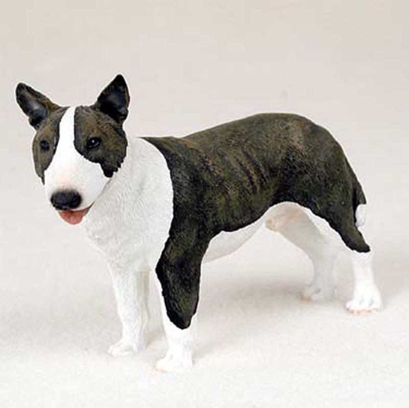 kitchen hand towels modern chairs bull terrier painted figurine statue brindle