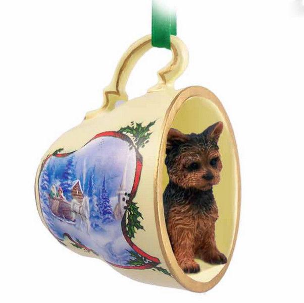 Yorkie Christmas Ornaments