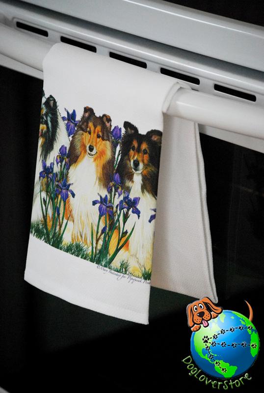 Sheltie Kitchen Hand Towel