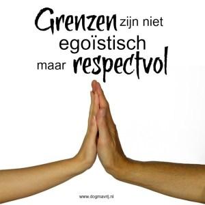 Grenzen niet egoistisch maar respectvol