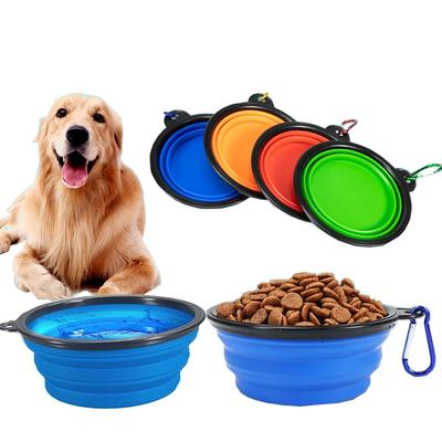 Folded Silicone Pet Dog Bowl