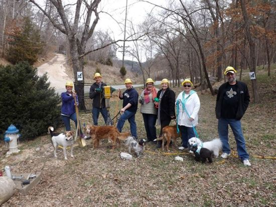 Groundbreaking ceremony at Eureka Springs' Bark Park