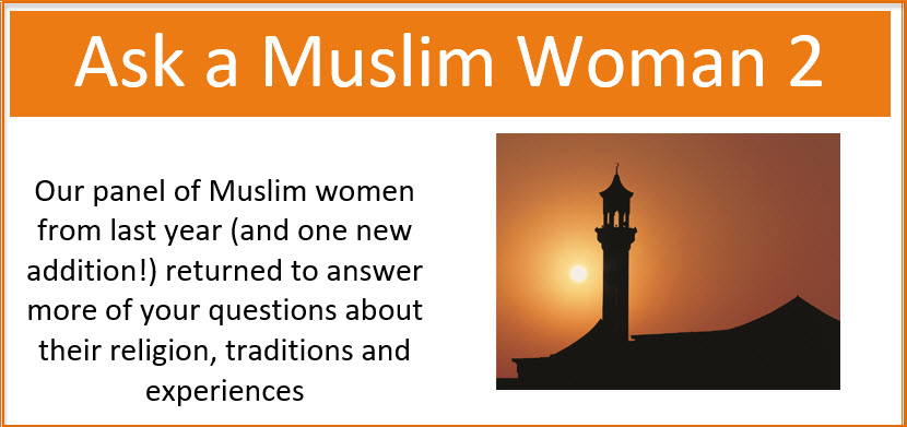 Ask a Muslim Woman 2 Post event webpage picture