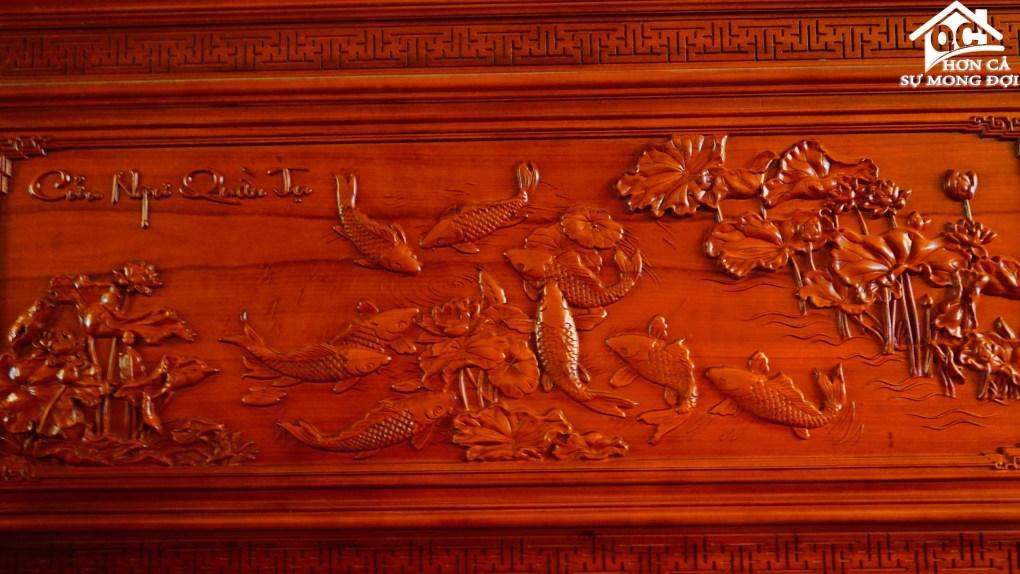 tranh tường cá chép (3)