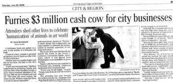From 2008.  Anthrocon has grown to generate $7 million in 2014.