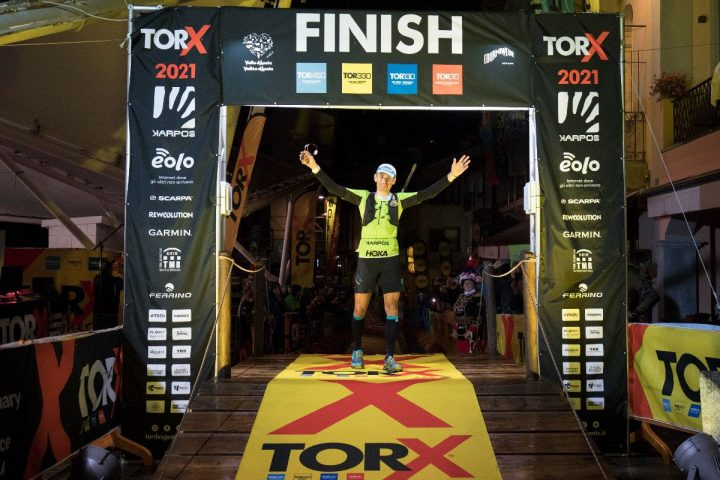 Tor des Geantsで男子優勝のフランコ・コレ Franco Collé Photo by TORX