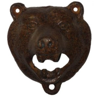 Cast Iron Bears Head Bottle Opener