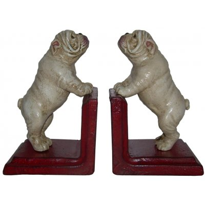 Cast Iron Bulldog Bookends