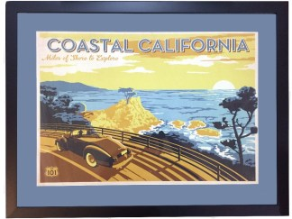 Coastal California USA Poster