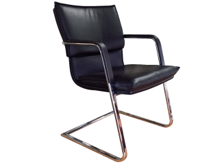 Australian Chrome and Leather Chairs