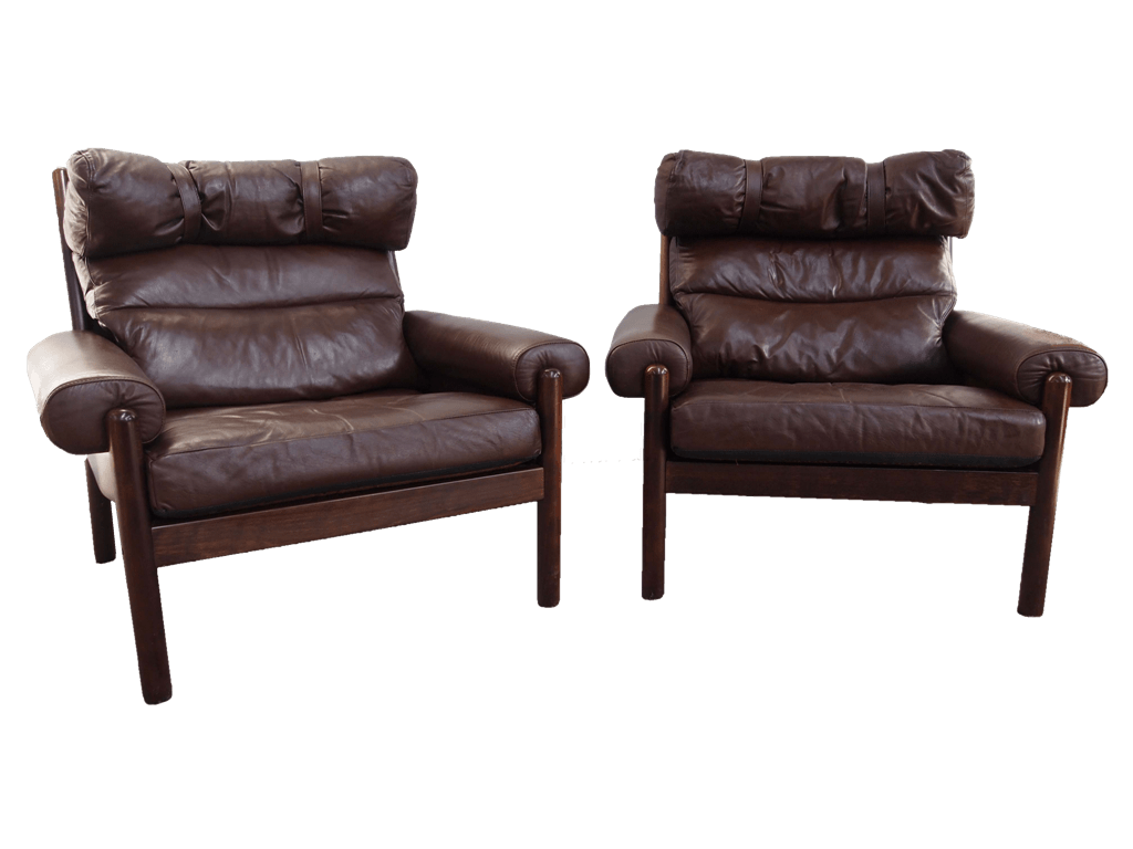 Danish Leather Armchairs - DOGS REPUBLIC