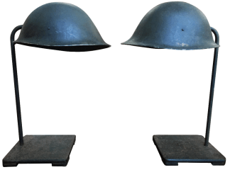 Pair of WW11 Helmet Lamps