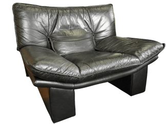 Nicoletti Salotti Leather Lounge Chair