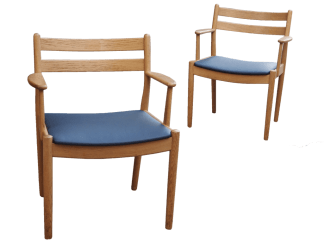 Danish Oak Elbow Chairs