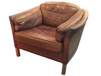 Illum Wikkelso Leather Armchair