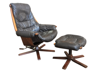 Swedish Leather Recliner