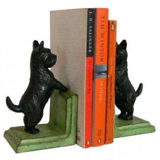 Cast Iron Scotty Dog Bookends