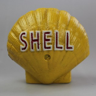 Cast Iron Shell Bank