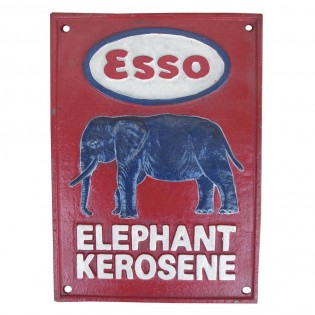 Cast Iron Esso Elephant Kerosene Sign
