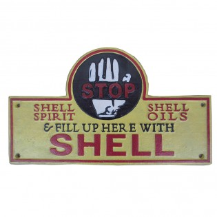 Cast Iron Shell Stop Sign