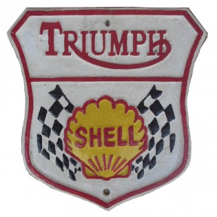 Cast Iron Triumph Shell Sign