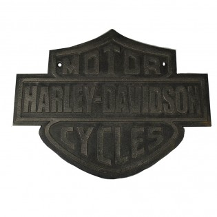 Cast Iron Harley Davidson Sign