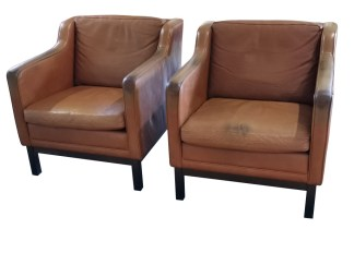 Danish Leather Armchairs