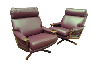 Tessa T21 Leather Swivel Chairs