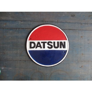 Cast Iron Datsun Sign