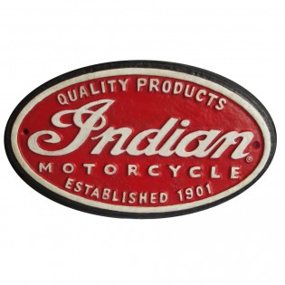 Cast Iron Indian Motorcycle Sign