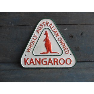 Cast Iron Kangaroo Petrol Sign