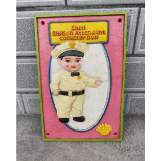 Cast Iron Shell Station Attendant Sign