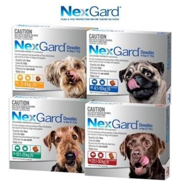 Four boxes of Nexgard.
