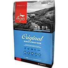 Bag of Orijens dog food