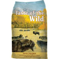 bag of taste of the wild dog food