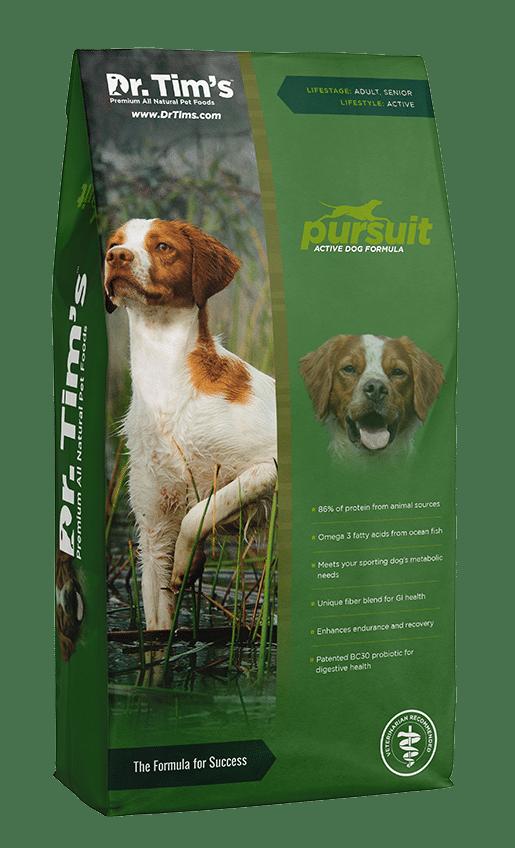 dr tim's dog food pursuit