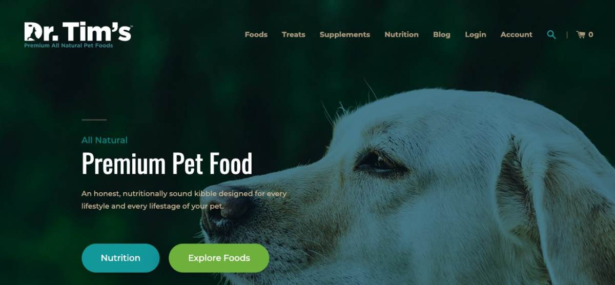 dr. Tim's dog food review - veterinarian dr tim's home page