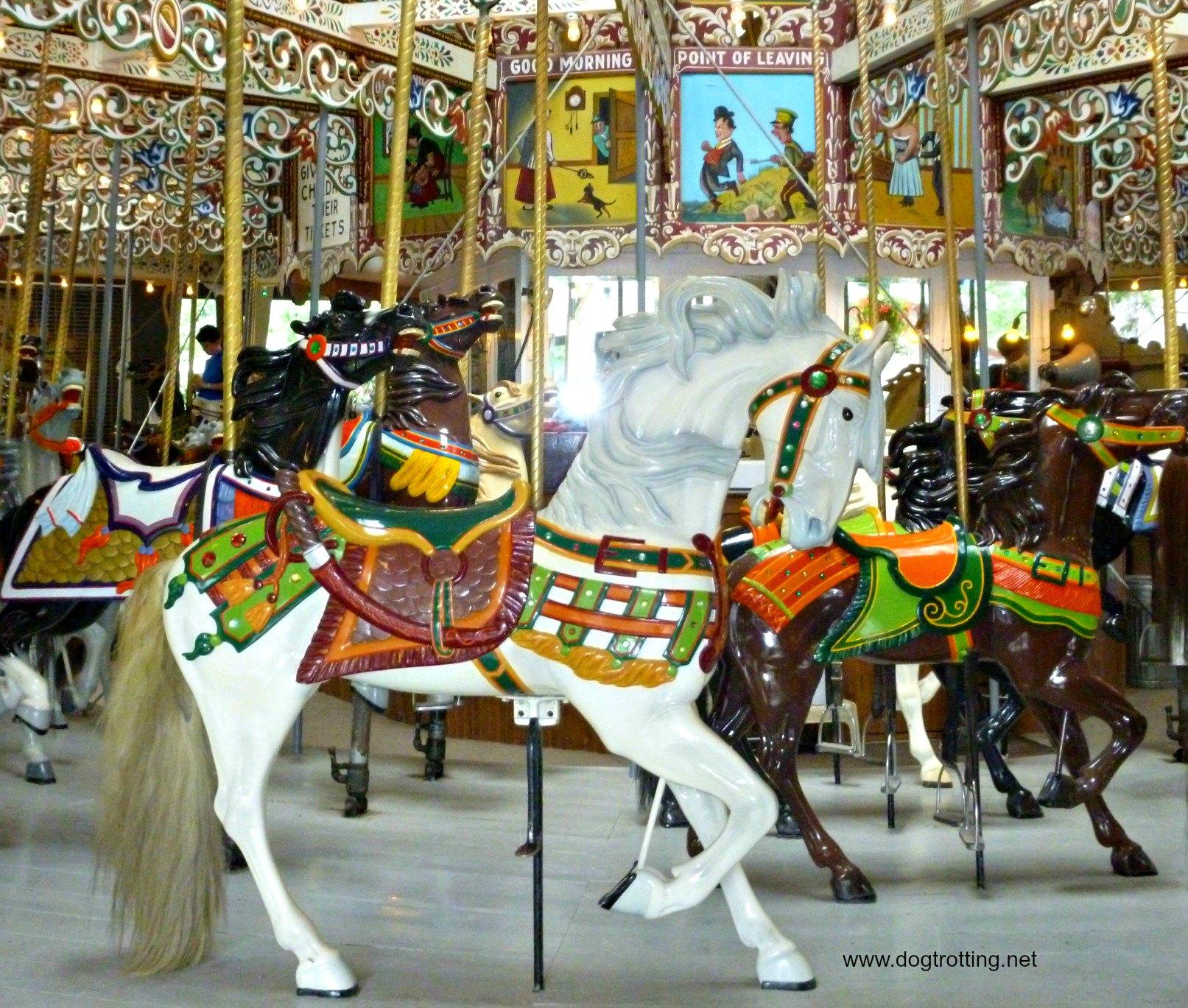 Historic carousel at Knoebels Amusement Resort
