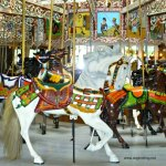 Historic carousel at Knoebels Amusement Resort