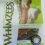 Whimzees dog dental chews - product at SuperZoo dogtrotting.net