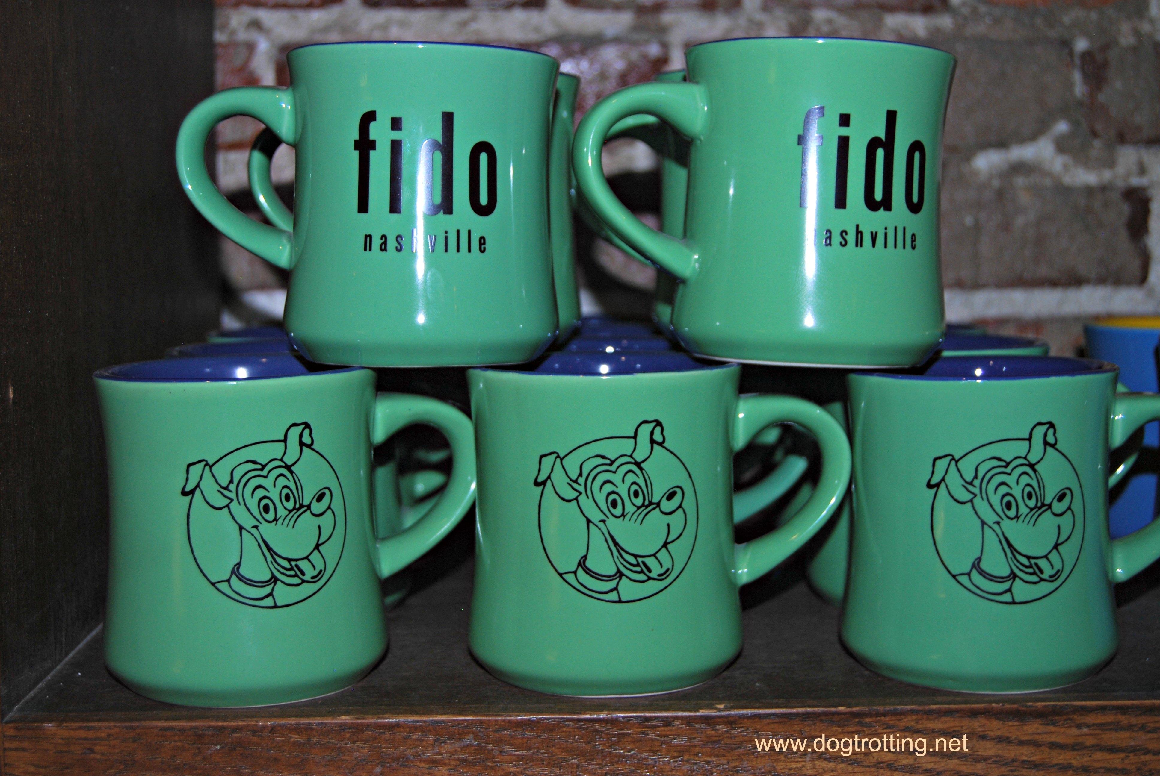 Mugs at Fido coffee shop Nashville