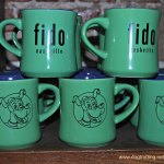 Mugs at Fido coffee shop Nashville