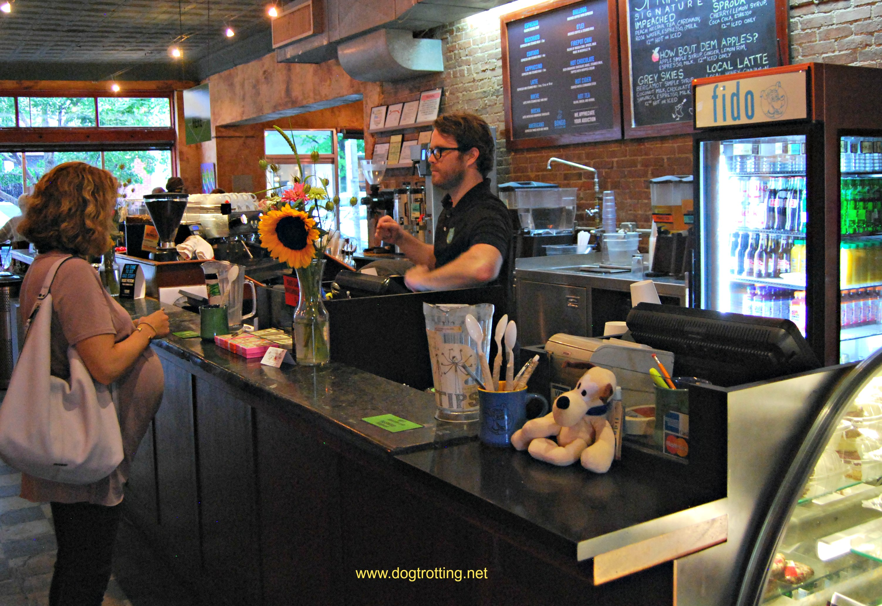 Fido coffee shop Nashville dogtrotting.net