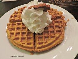 dog pumpkin waffle