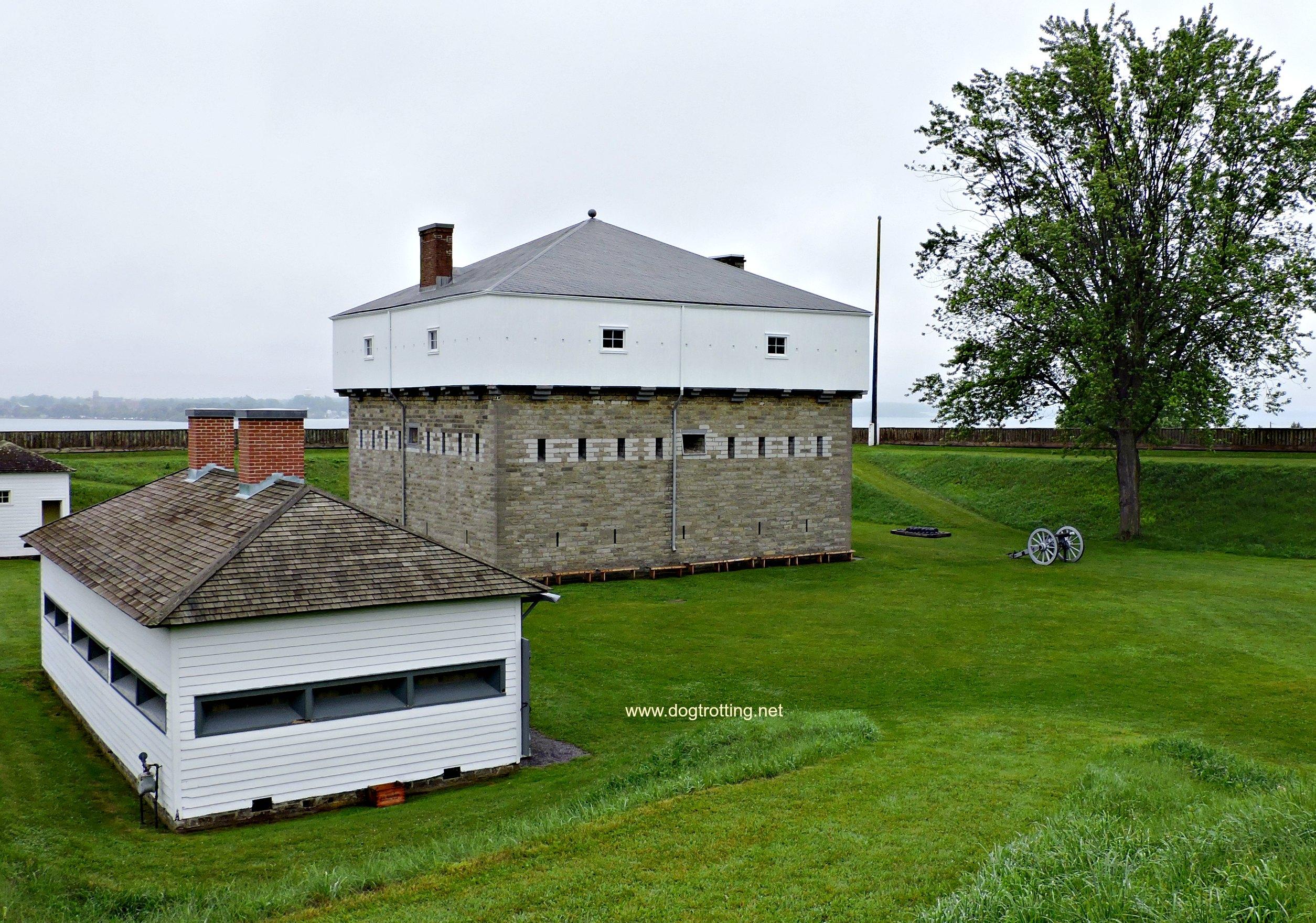 Barracks at dog-friendly Fort Wellington, Prescott, Ontario