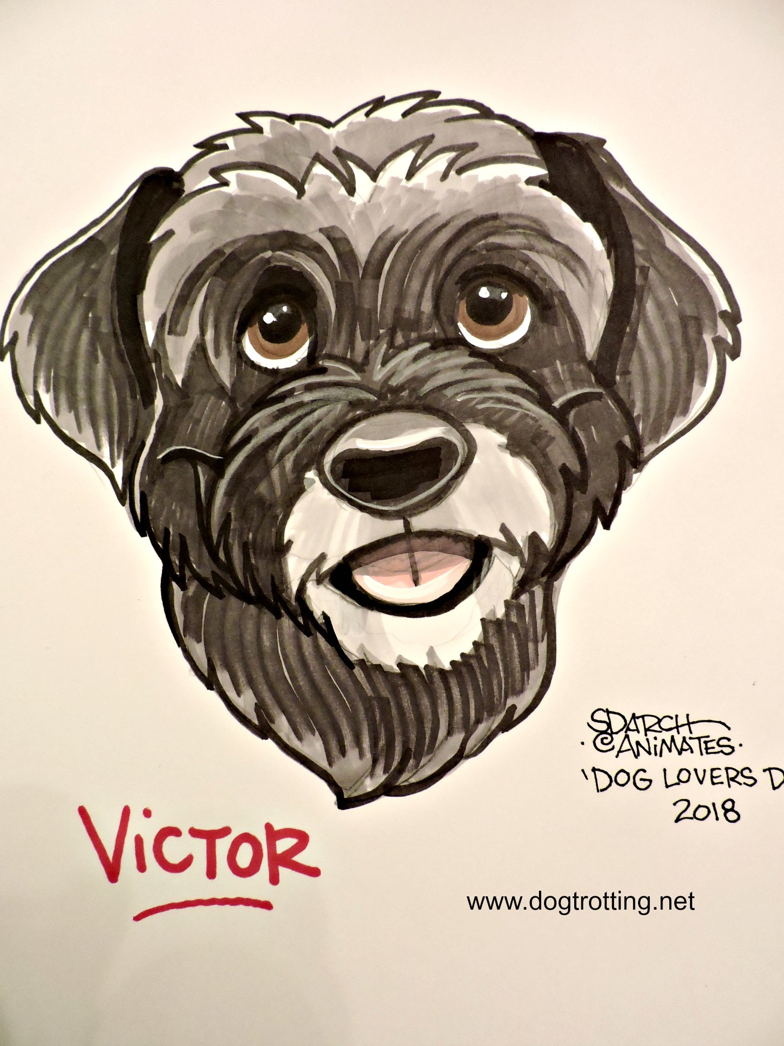 dog caricature image