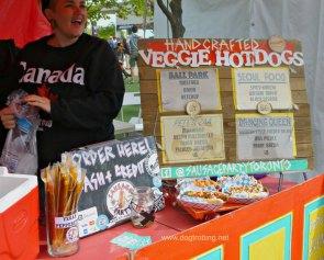 veggie hotdog stand at veg food fest toronto 2018