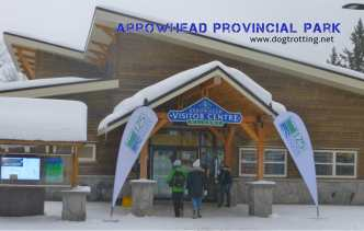 visitors centre at dog-friendly Arrownhead Provincial Park, Ontario, Canada dogtrotting.net